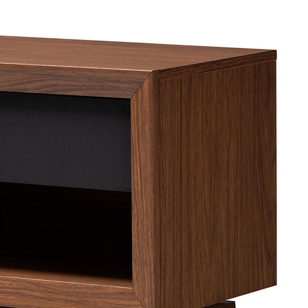 Baxton Studio Svante 1 Drawer Nightstand in Walnut/Gray, , large