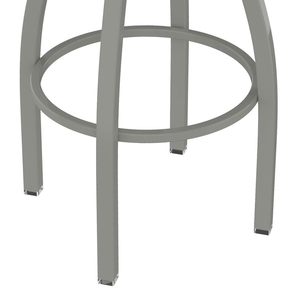 """Holland Bar Stool 802 Misha 25"""" Swivel Counter Stool with Anodized Nickel and Canter Red Seat, , large"""