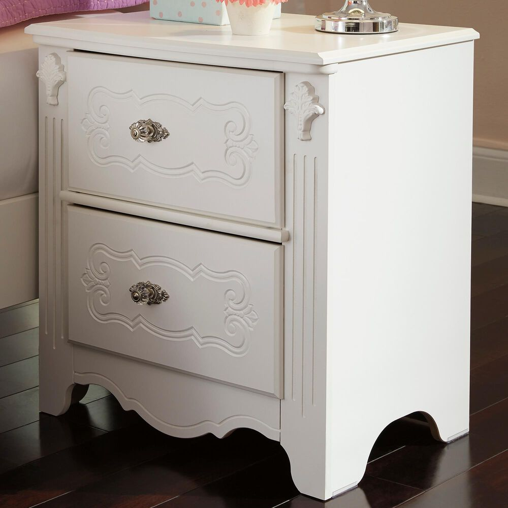 Signature Design by Ashley Exquisite 2 Drawer Nightstand in White, , large