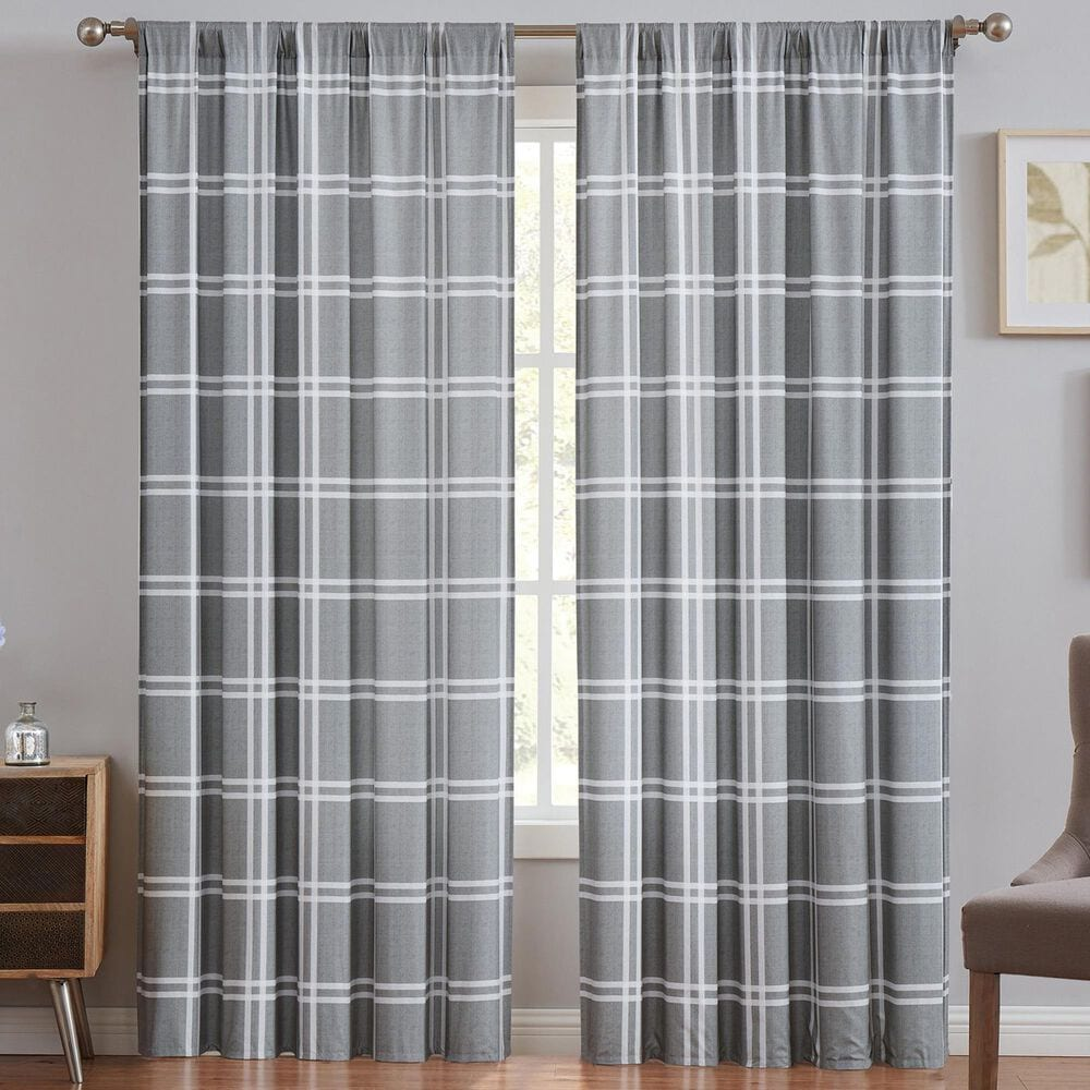 Pem America Truly Soft Leon 2-Piece Window Panel Pair in Grey, , large