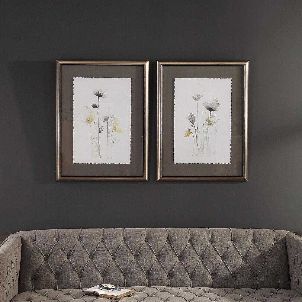 Uttermost Stem Illiusion Floral Art (Set of 2), , large