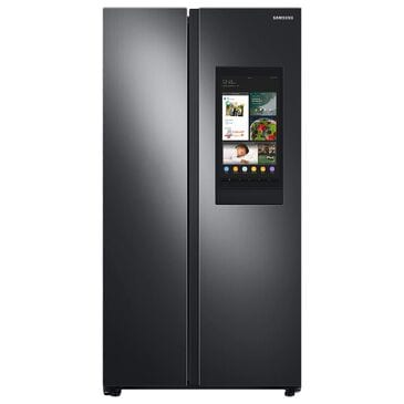 Samsung 27.3 Cu. Ft. Smart Side-by-Side Refrigerator with Family Hub in Black Stainless Steel, , large