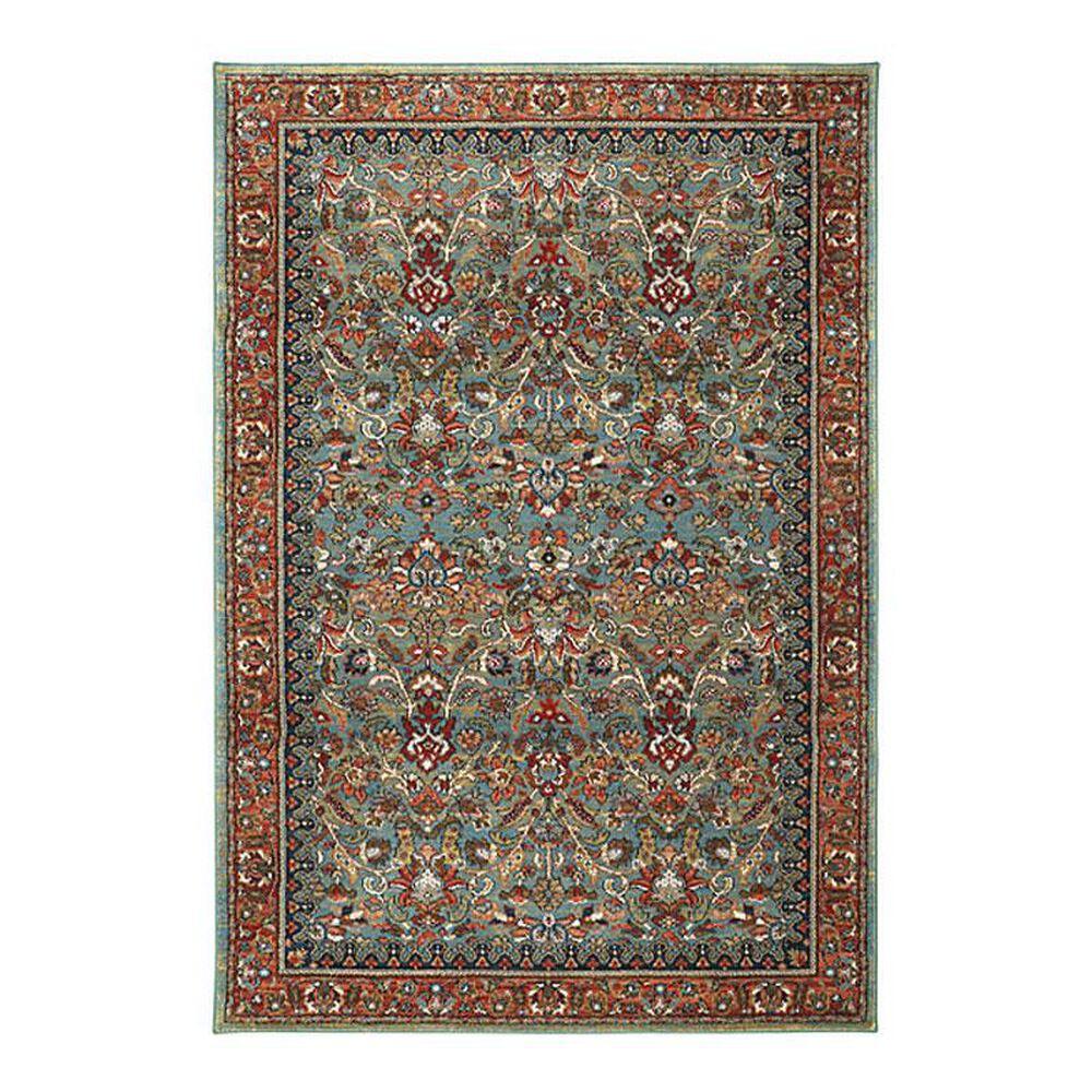 Karastan Spice Market Tigris 90662 8' x 11' Aquamarine Area Rug, , large