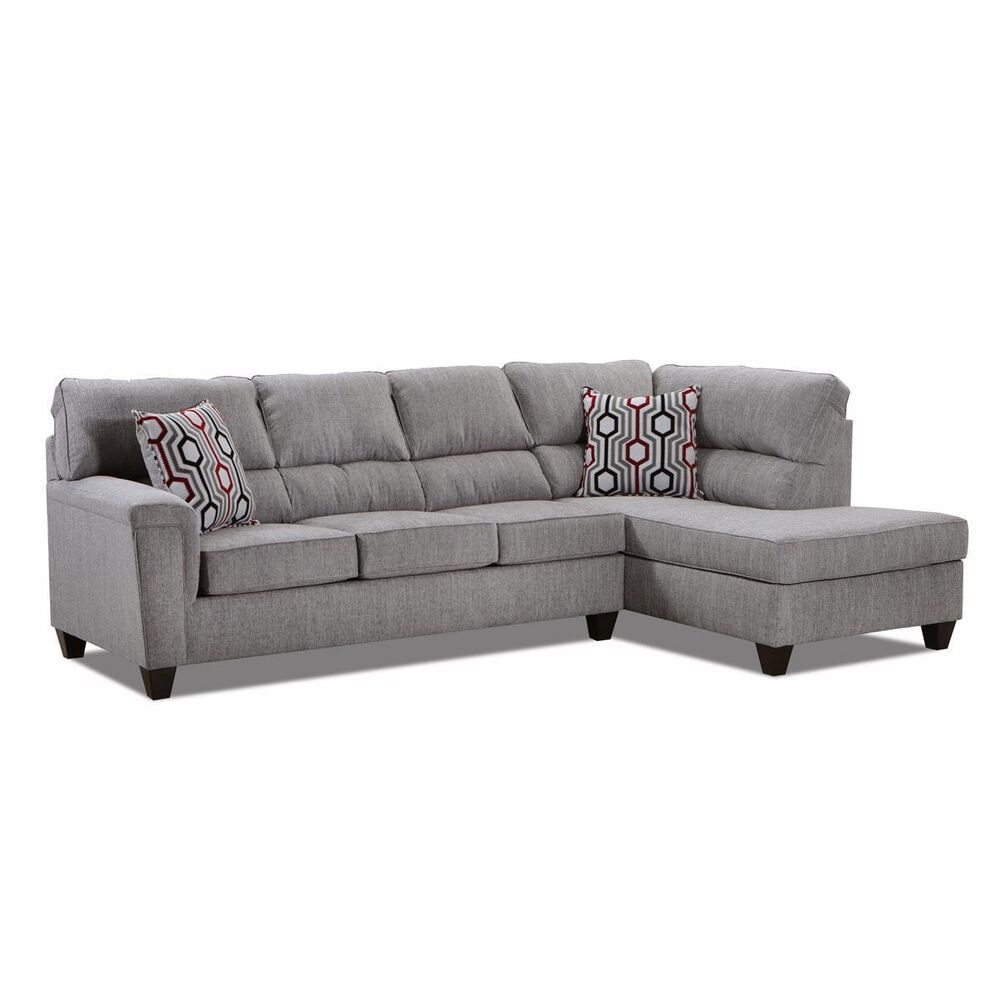 Simmons Upholstery 2-Piece Sectional in Dante Concrete, , large