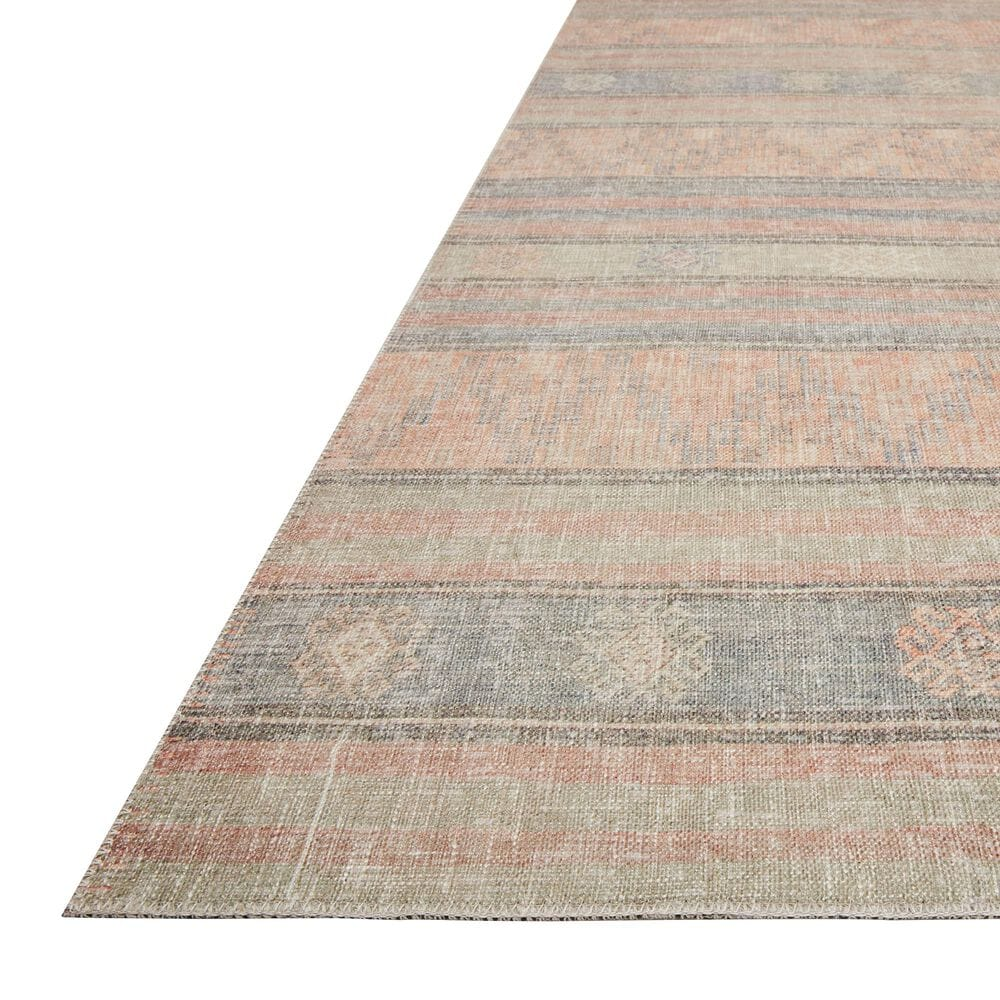 """ED Ellen DeGeneres Crafted by Loloi Alameda ALA-02 2'6"""" x 7'6"""" Persimmon and Sky Area Rug, , large"""