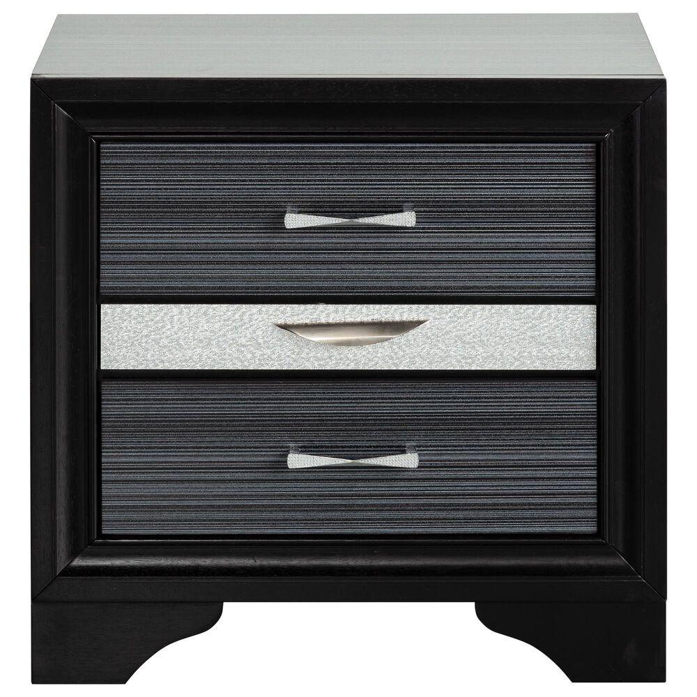 Gunnison Co. Naima 2 Drawer Nightstand in Black, , large
