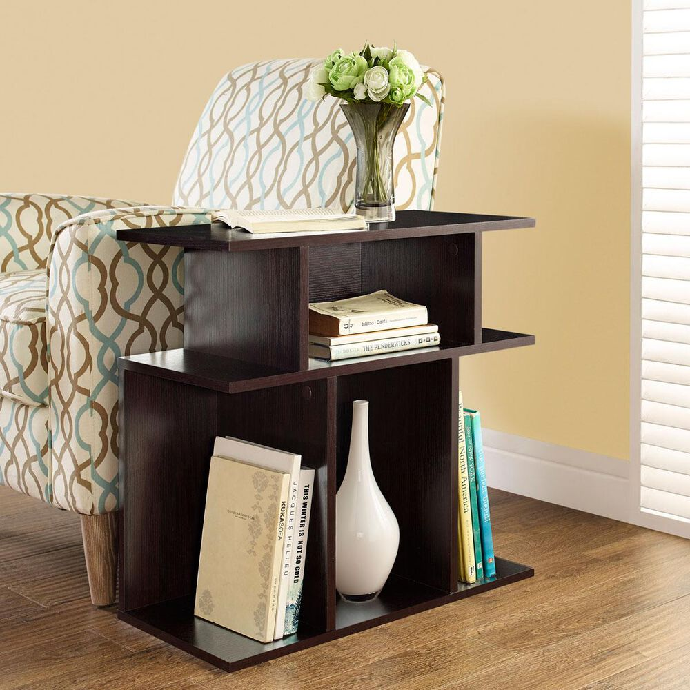 Monarch Specialties 24 in. Accent Side Table in Cappuccino, , large