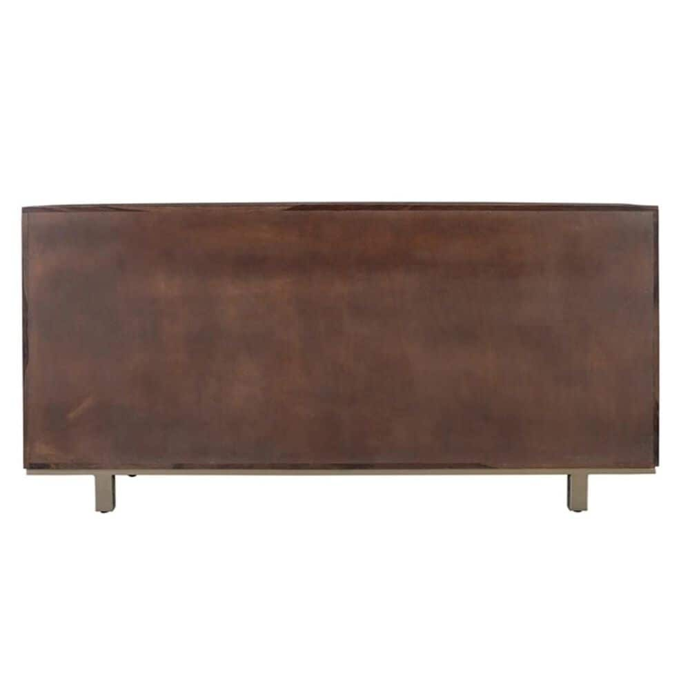 Shell Island Furniture Contemporary 4-Door Sideboard in Brownstone, , large
