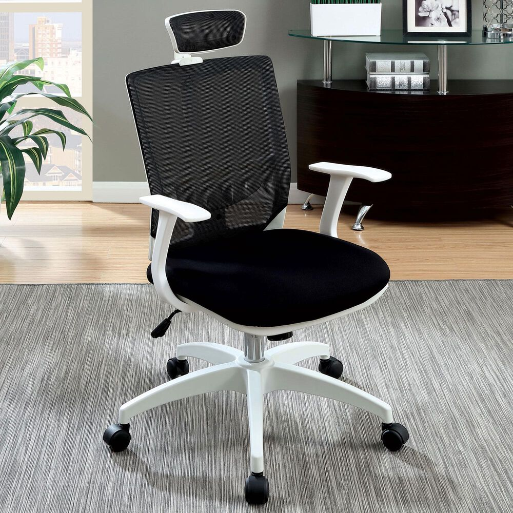 Furniture of America Padilla Office Chair in Black, , large