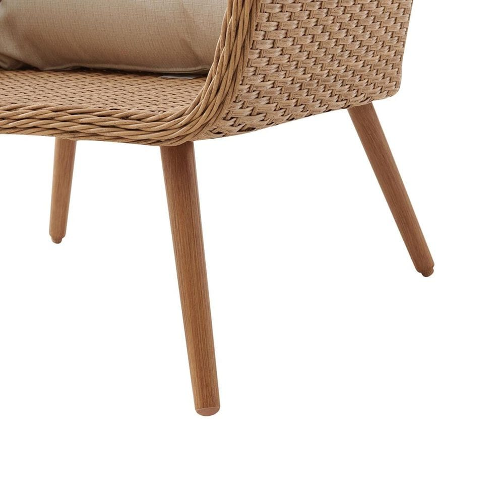 Crosley Furniture Landon 2-Piece Outdoor Wicker Chair Set in Light Brown, , large