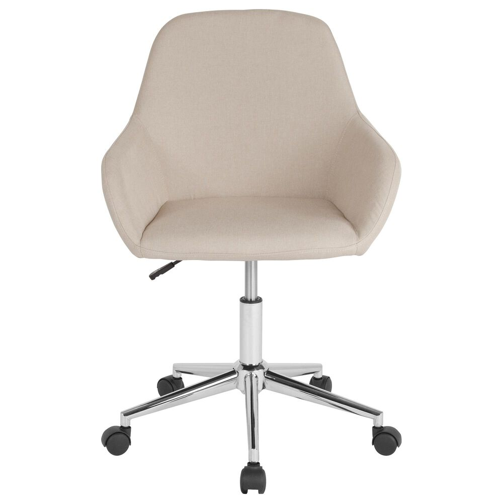 Flash Furniture Cortana Office Chair in Beige, , large