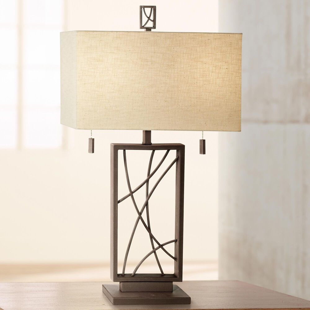 Pacific Coast Lighting Industrial Crossroads Table Lamp in Poly Dark Rust, , large