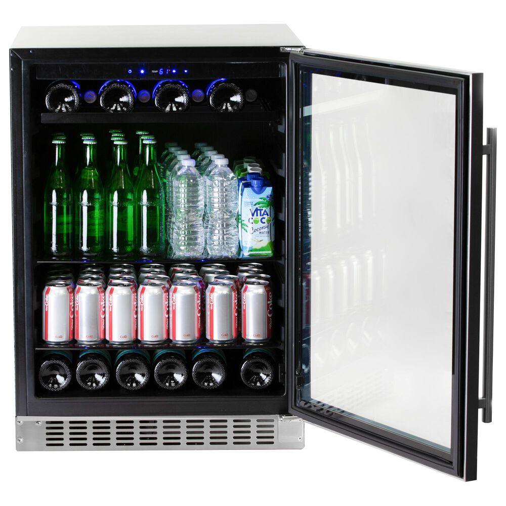 Azure 5.6 Cu. Ft. Glass Door Beverage Center in Stainless Steel, , large