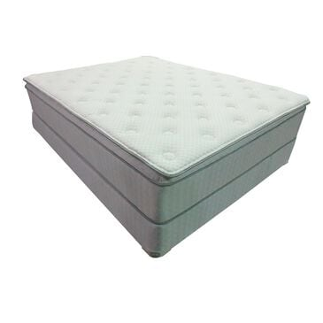 Omaha Bedding Premier Gel Pillow Top Queen Mattress with High Profile Box Spring, , large