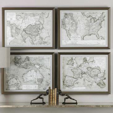Uttermost World Maps Framed Prints, , large