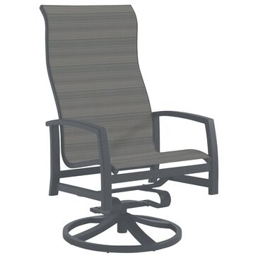 Tropitone Muirlands High Back Swivel Rocker with Gray Gate Sling in Graphite, , large