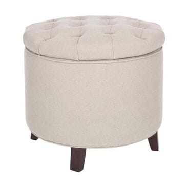 Safavieh Amelia Tufted Storage Ottoman in Taupe, , large