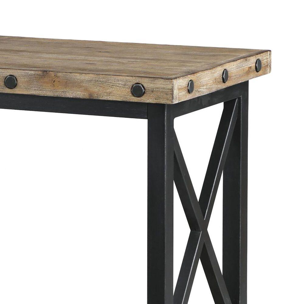 Flexsteel Carpenter Sofa Table in Rustic Light Brown, , large