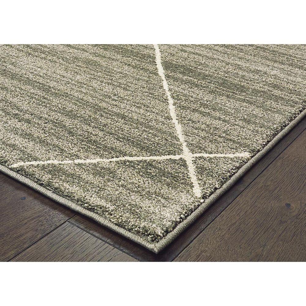 "Oriental Weavers Carson 9661A 2'3"" x 7'6"" Gray Runner, , large"