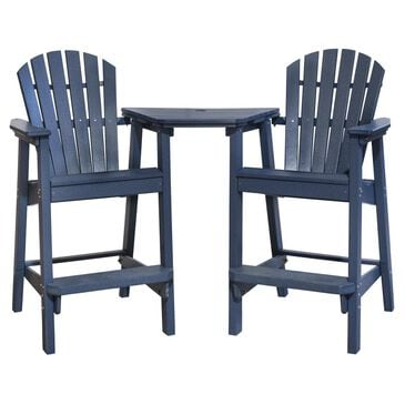Oceanside Adirondack Shellback Chairs with Tete-a-Tete in Slate, , large