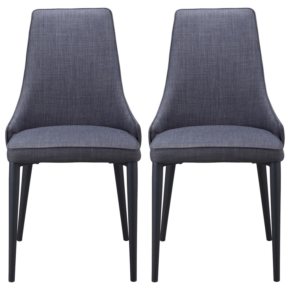Moe's Home Collection Hazel Dining Chair in Grey (Set of 2), , large