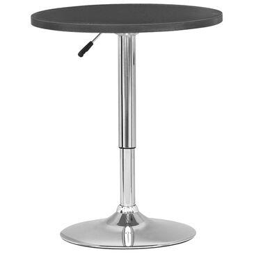 CorLiving Adjustable Round Bar Table in Black, , large