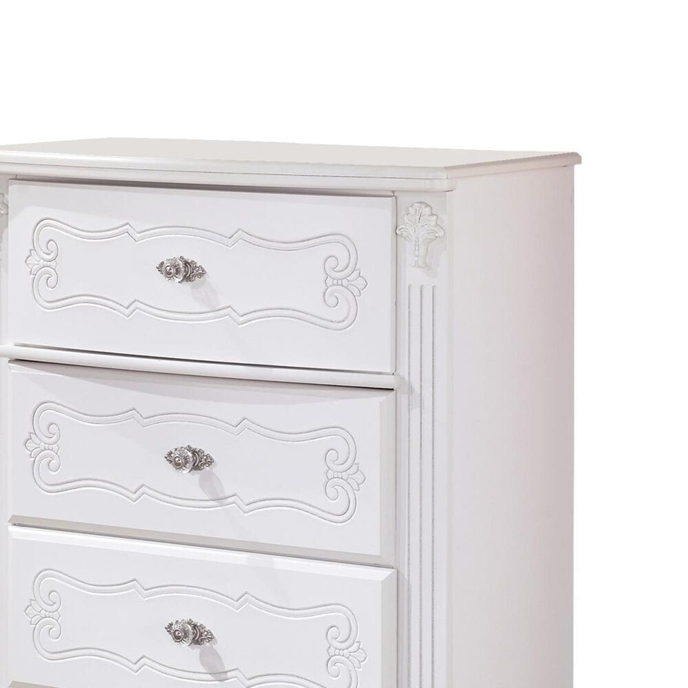 Signature Design by Ashley Exquisite 5-Drawer Chest in White, , large