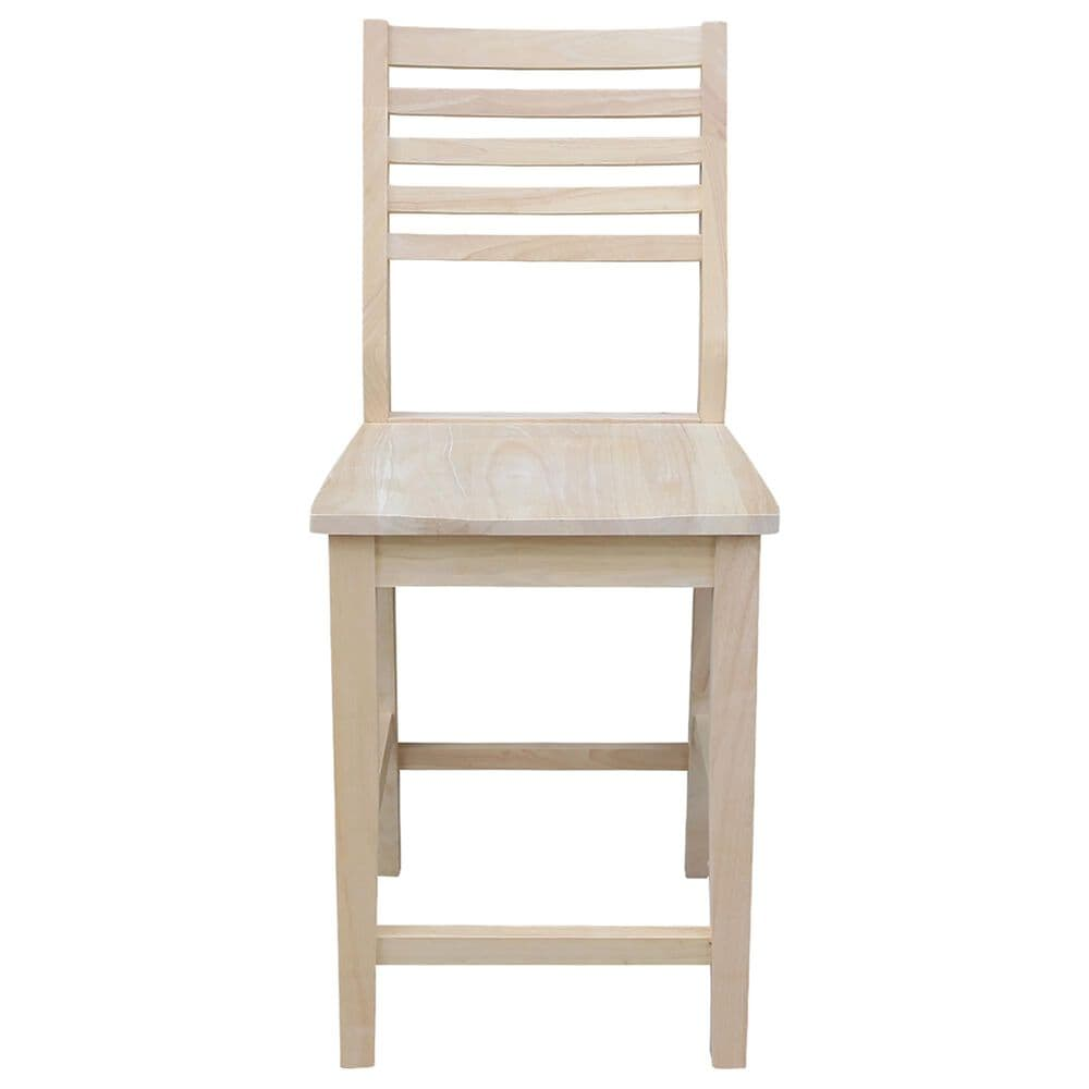 """International Concepts Aspen 24"""" Counter Stool in Unfinished, , large"""