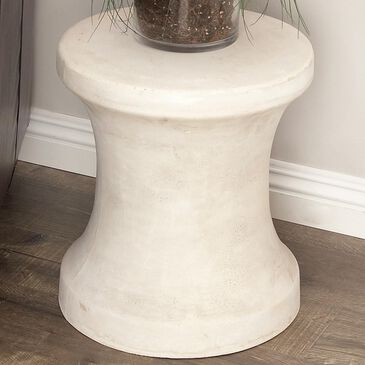 """Maple and Jade 16"""" x 14"""" Foot Stool in White, , large"""