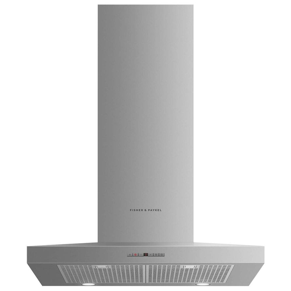 "Fisher and Paykel 30"" Wall Chimney Pyramid Vent Hood in Stainless Steel, , large"