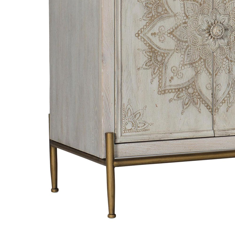 Hooker Furniture Melange Accent Chest in White, Beige and Gold, , large
