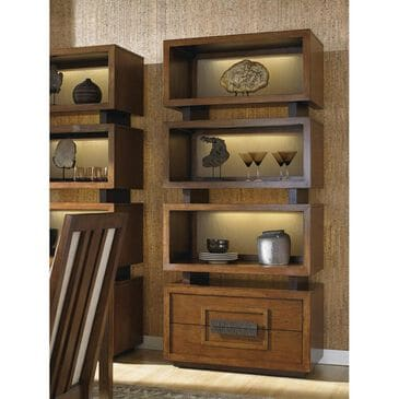 Tommy Bahama Home Island Fusion Tonga Tiered Bookcase in Dark Walnut, , large