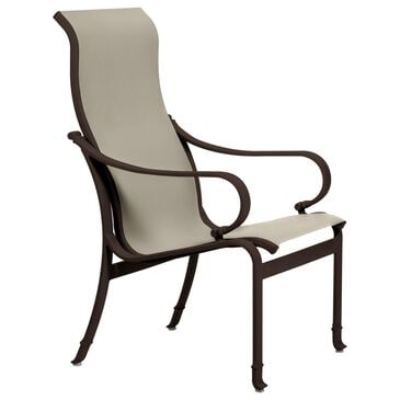 Tropitone Torino High Back Dining Chair with Sparkling Water Sling in Rich Earth, , large