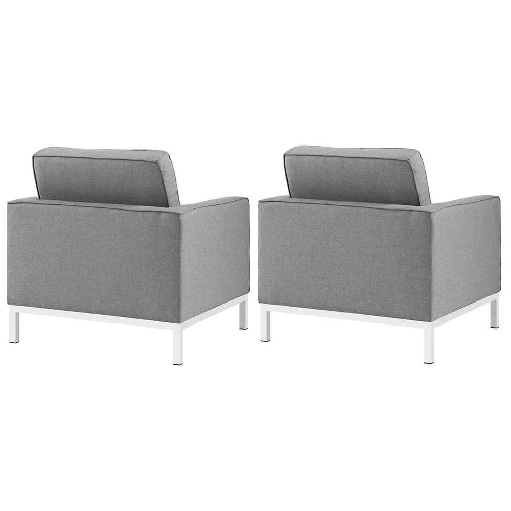 Modway Loft Armchairs Fabric (Set of 2) in Light Gray, , large
