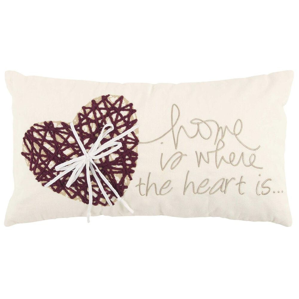 """Rizzy Home 11"""" x 21"""" Down Pillow in Purple, , large"""