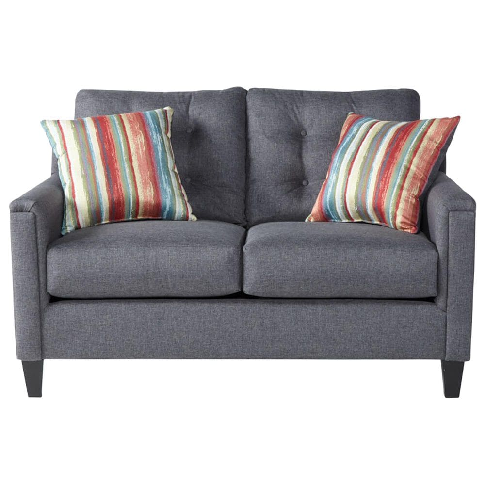 Hughes Furniture Loveseat in Jitterbug Gray, , large