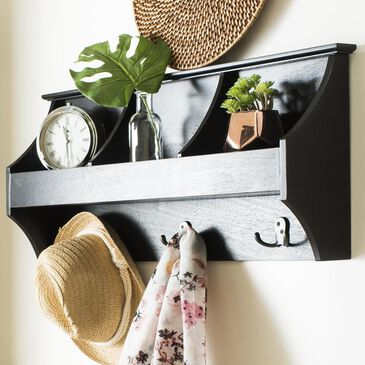 Safavieh Darcey Hanging Storage Wall Rack in Black, , large