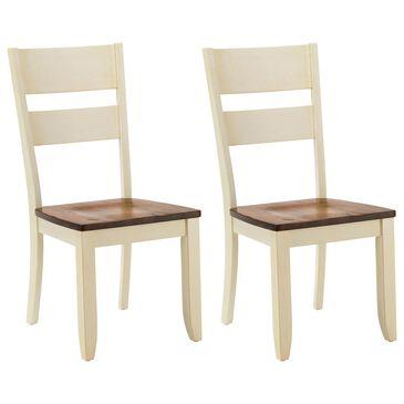 Chromcraft Cochrane Side Chair in Rustic Buttermilk/Walnut (Set of 2), , large