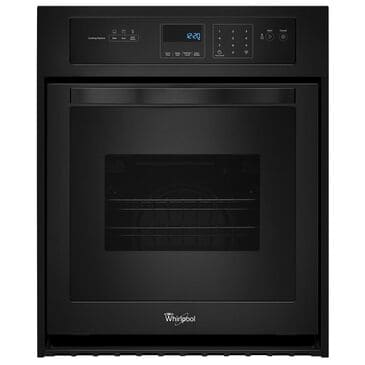 """Whirlpool 24"""" 3.1 Cu. Ft. Single Wall Oven with High-Heat Self-Cleaning System - Black, , large"""