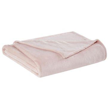 Pem America Truly Soft Velvet Plush Full/Queen Blanket in Blush, , large