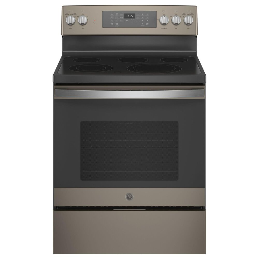 """GE Appliances 30"""" Freestanding Electric Range with Convection in Slate, , large"""