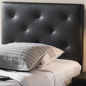 Baxton Studio Baltimore Twin Upholstered Headboard in Black, , large