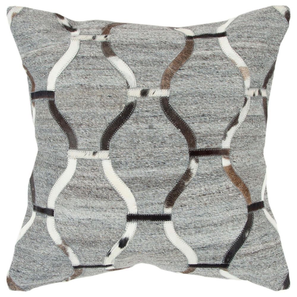 """Rizzy Home Donny Osmond Geometric 20"""" Pillow Cover in Natural/ Black, , large"""