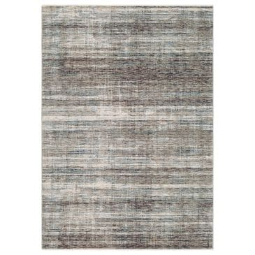 Surya Presidential PDT-2309 5' x 8' Charcoal, Ivory and Blue Area Rug, , large
