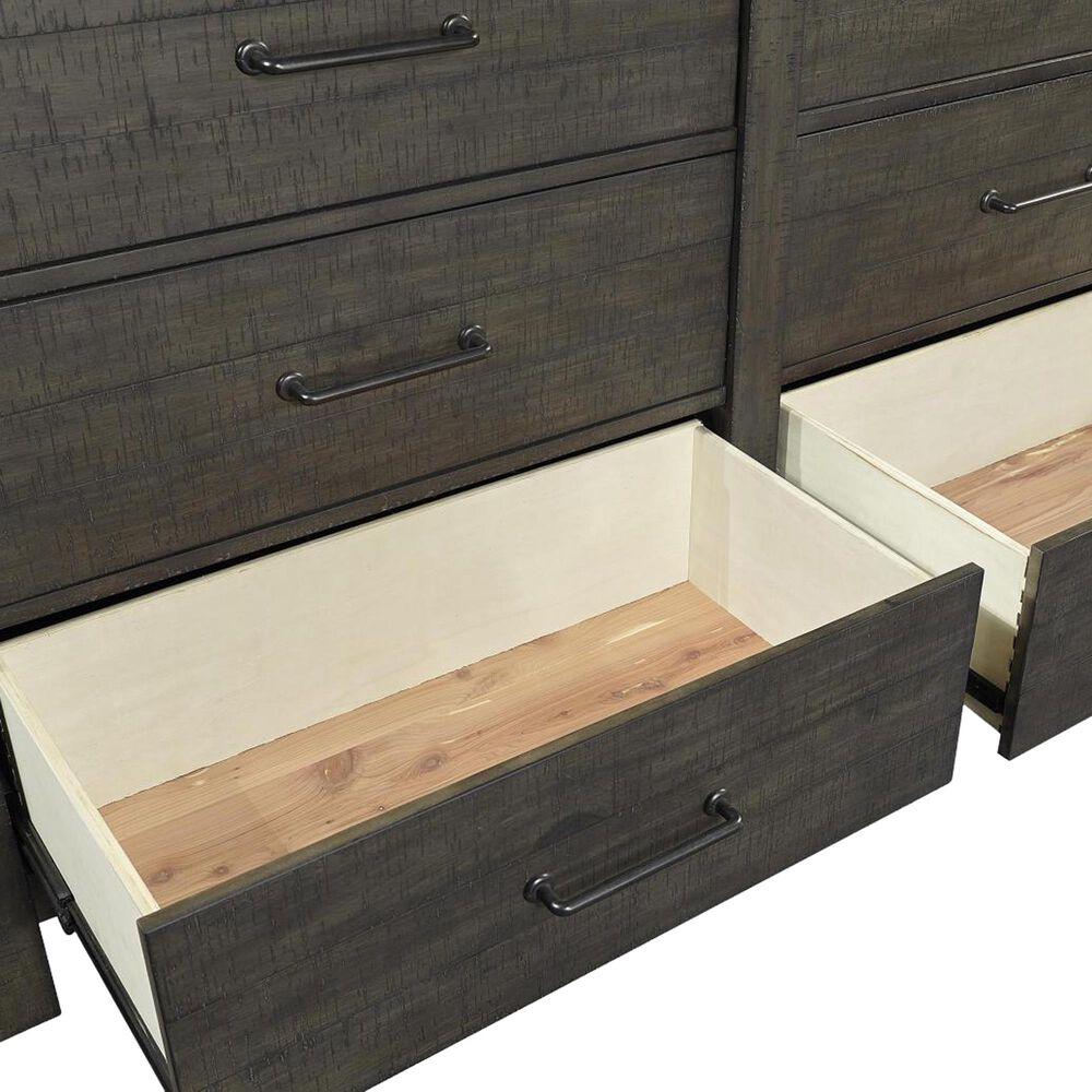 Riva Ridge Mill Creek 4 Piece Twin Low Profile Twin Bed Set in Carob, , large
