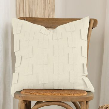 "Rizzy Home Donny Osmond 20"" Poly Filled Pillow in Ivory, , large"