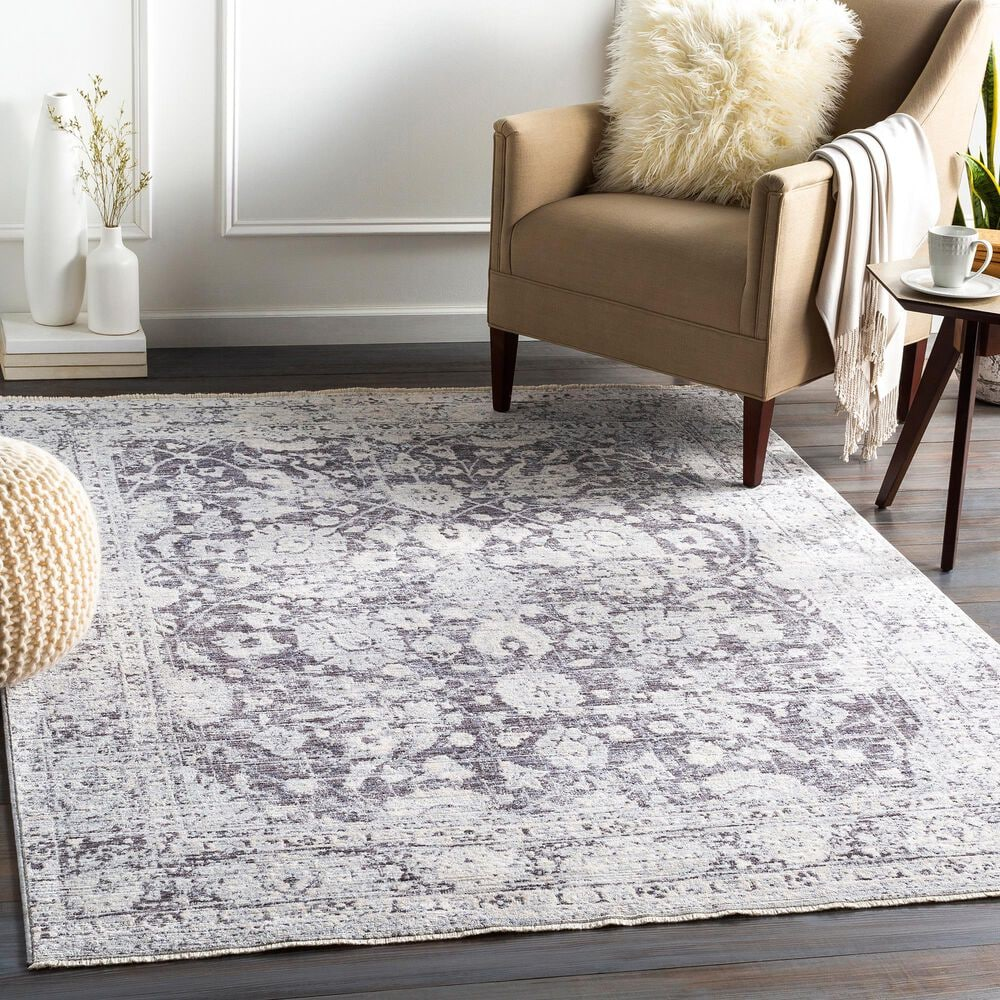 Surya Presidential PDT-2313 5' x 8' Blue, Ivory and Gray Area Rug, , large