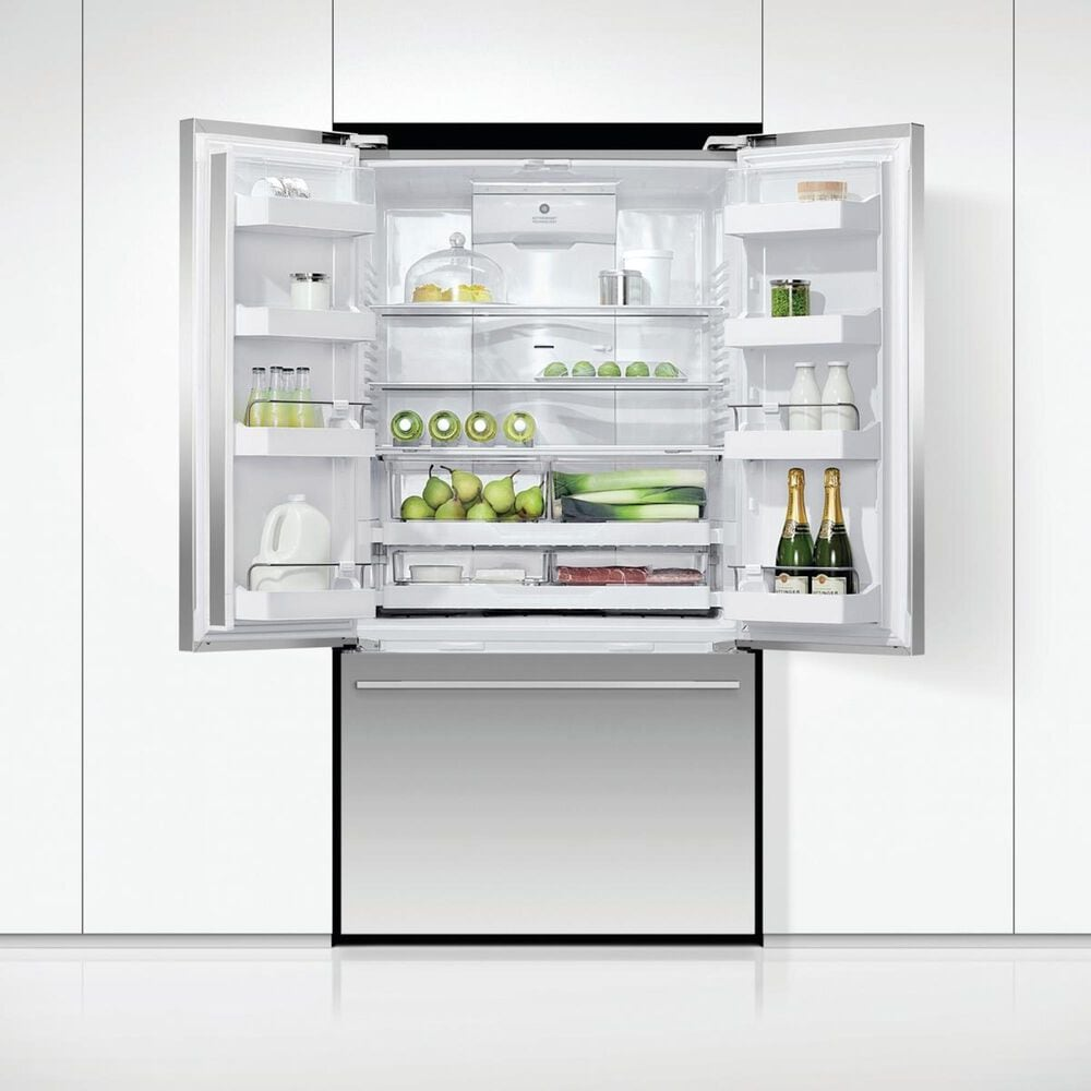 Fisher and Paykel 20.1 Cu. Ft. 3-Door French Door Refrigerator with Ice and Water in Stainless Steel, , large
