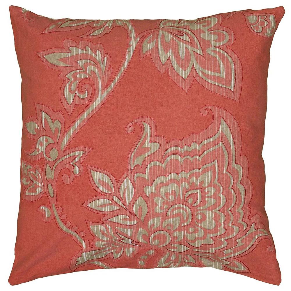 """Rizzy Home 18"""" x 18"""" Pillow Cover in Orange and Tan, , large"""