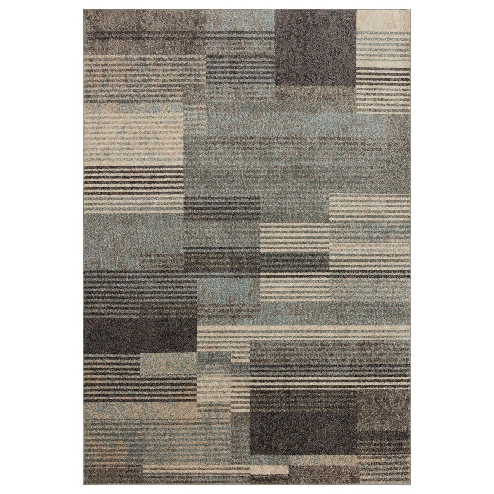 """Loloi II Bowery 9'6"""" x 12'6"""" Storm and Taupe Area Rug, , large"""